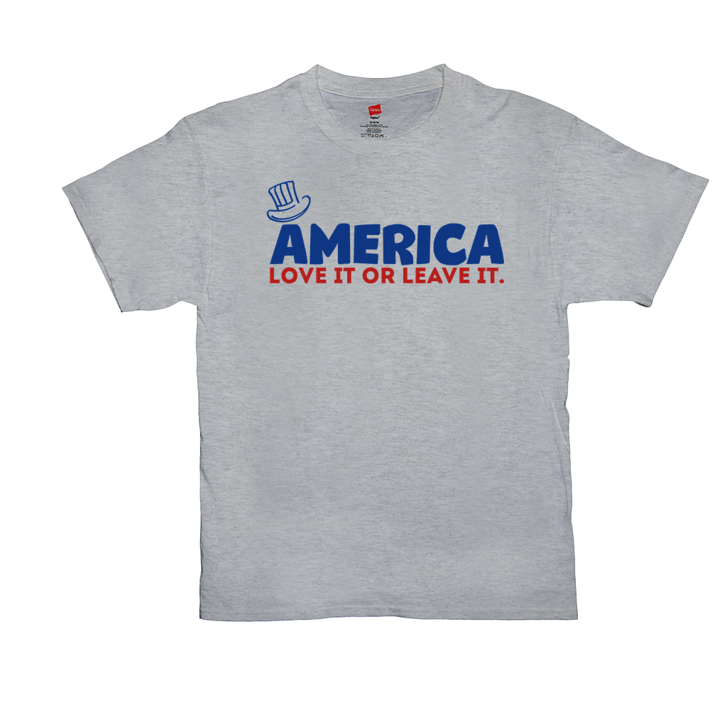 "Unisex T-Shirts - GN - ""America, Love It or Leave It"" - patriotic, inspirational"