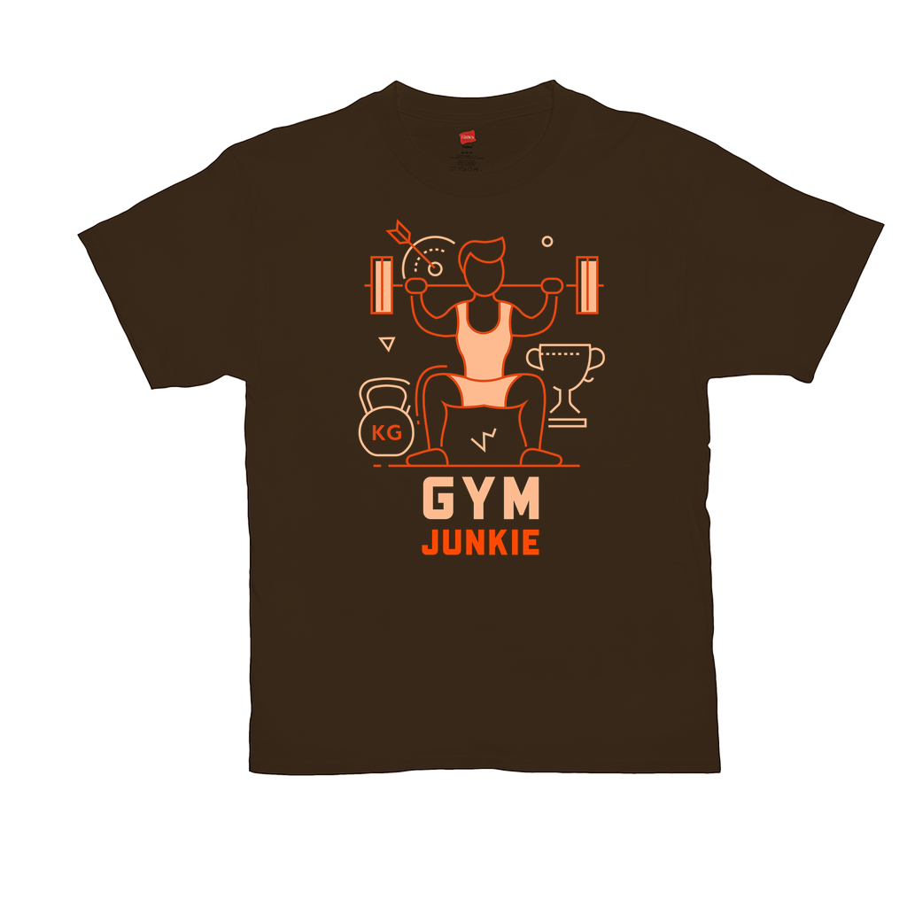 "Unisex T-Shirts - GN  - ""Gym Junkie"" - fitness, exercise, weightlifting, bodybuilding, workout, cross fit"