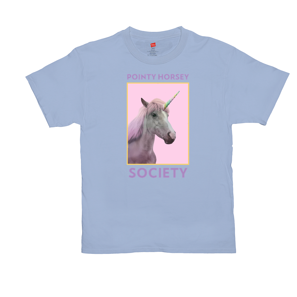 "Unisex T-Shirts - GN - ""Pointy Horsey Society"" - funny t-shirts, funny sayings, funny quotes, silly gifts, unicorns"