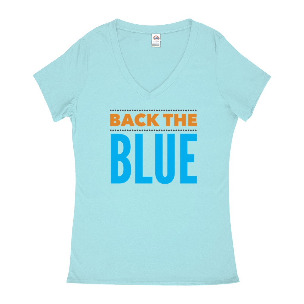 Back the Blue - V-Neck T-Shirts - GN - 06, blue lives matter, patriotic, inspirational, Police