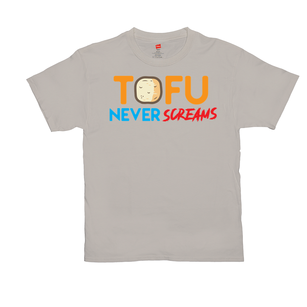Tofu Never Screams - Unisex T-Shirts - GN - vegetarian, vegetarianism, funny sayings, funny quotes, funny gifts