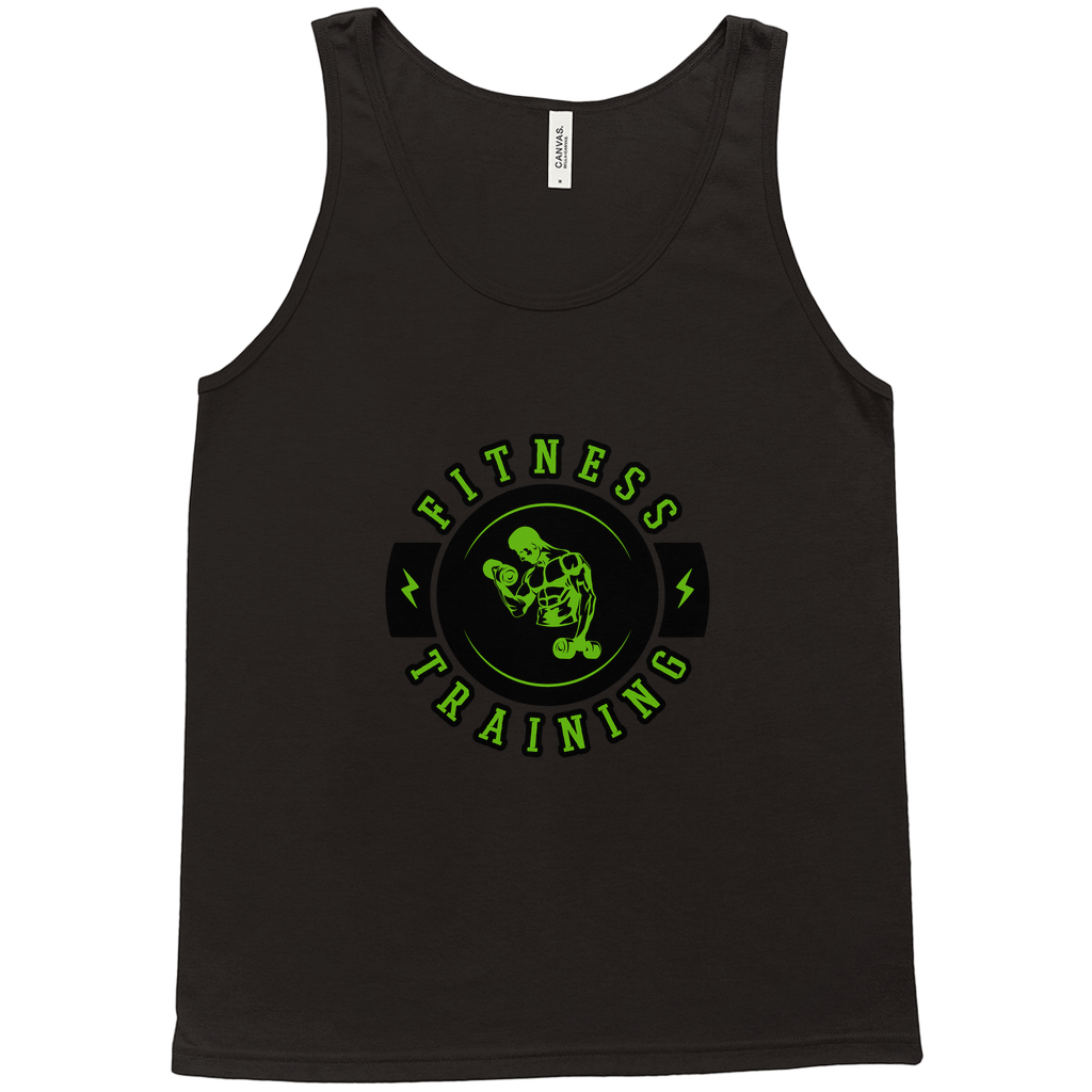 Fitness Training - Tank Tops - GN - fitness, workout, exercise, weightlifting, bodybuilding, cross fit