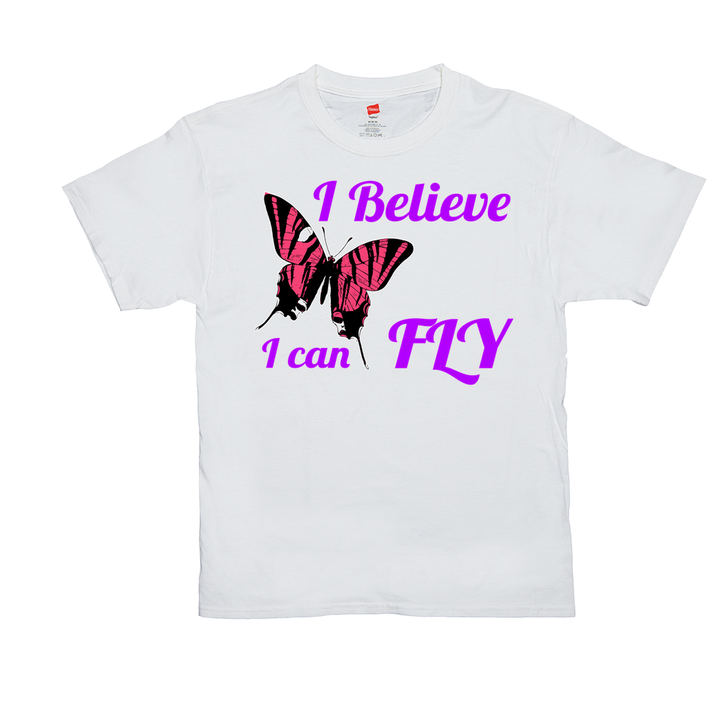I believe I can Fly - Unisex T-Shirts - Animals, Butterflies, Nature, Positivity, Motivation, Inspiration