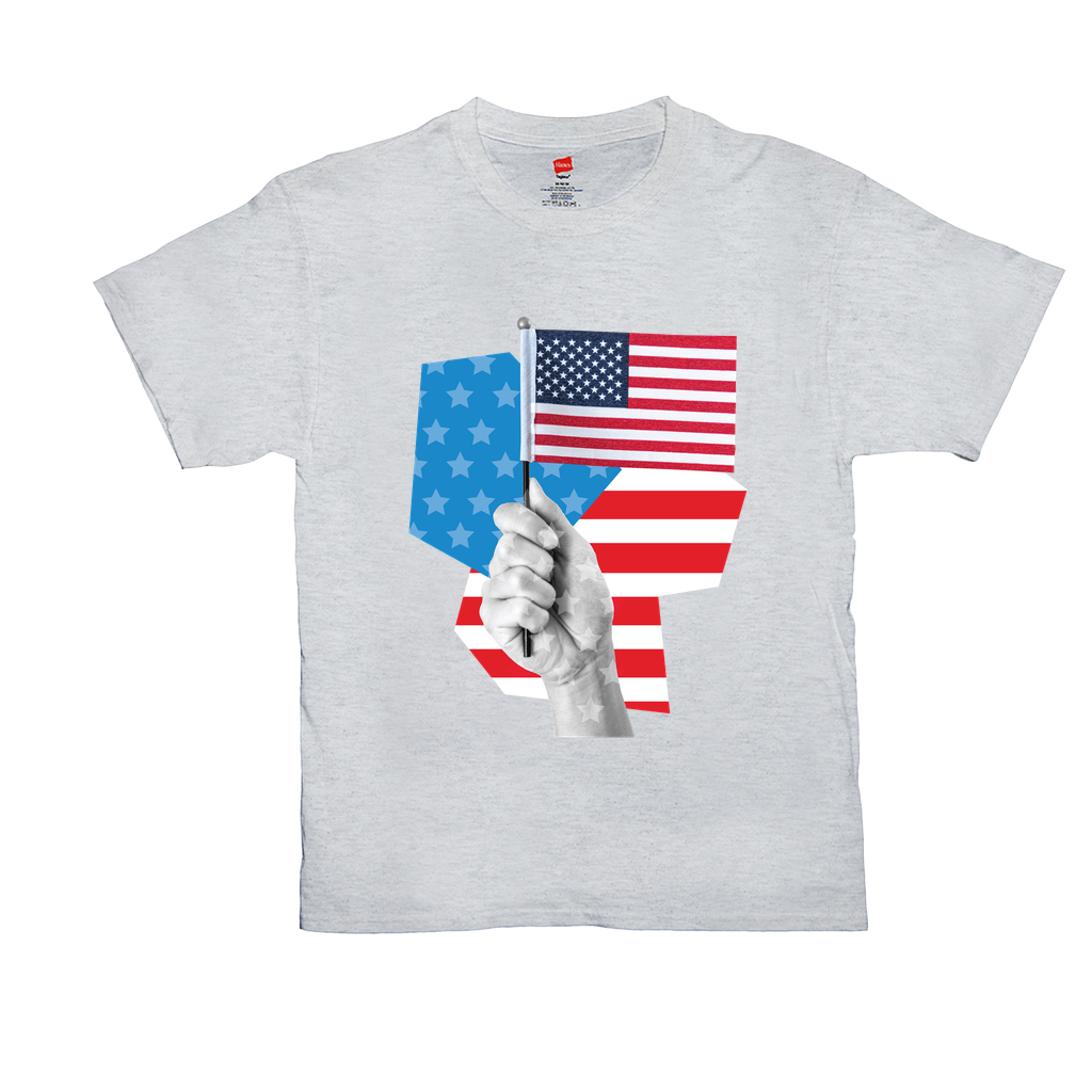 Hand Holding Flag - Unisex T-Shirts - GN