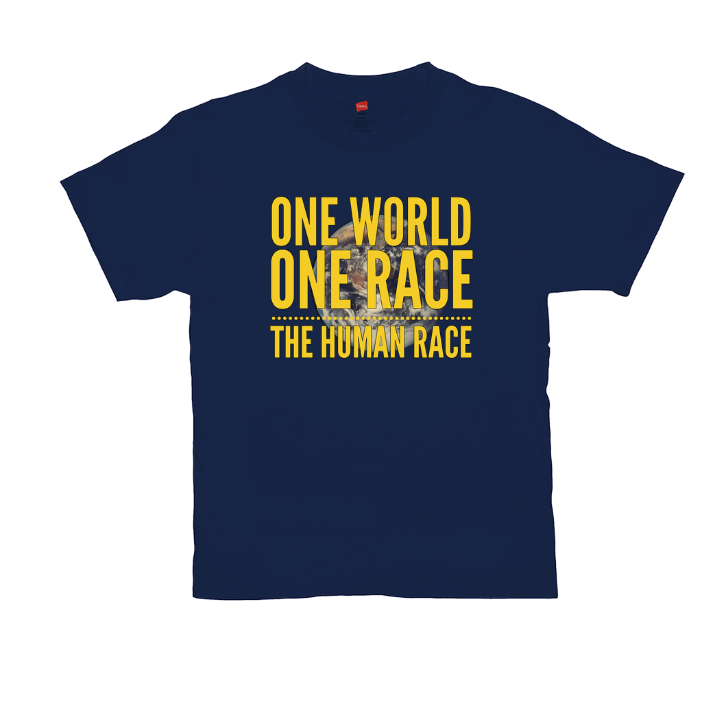 One World, One Race...The Human Race - Unisex T-Shirt - GN