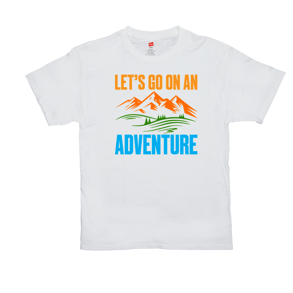 Let's go on an adventure - Unisex T-Shirts - GN - camping, hiking, outdoors, nature