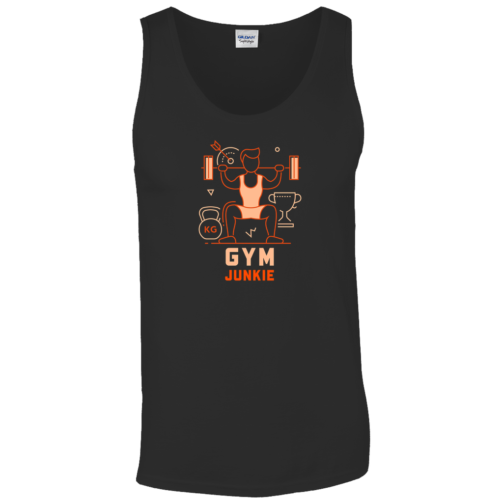 Gym Junkie - Tank Tops - GN - fitness, workout, exercise, weightlifting, bodybuilding, cross fit