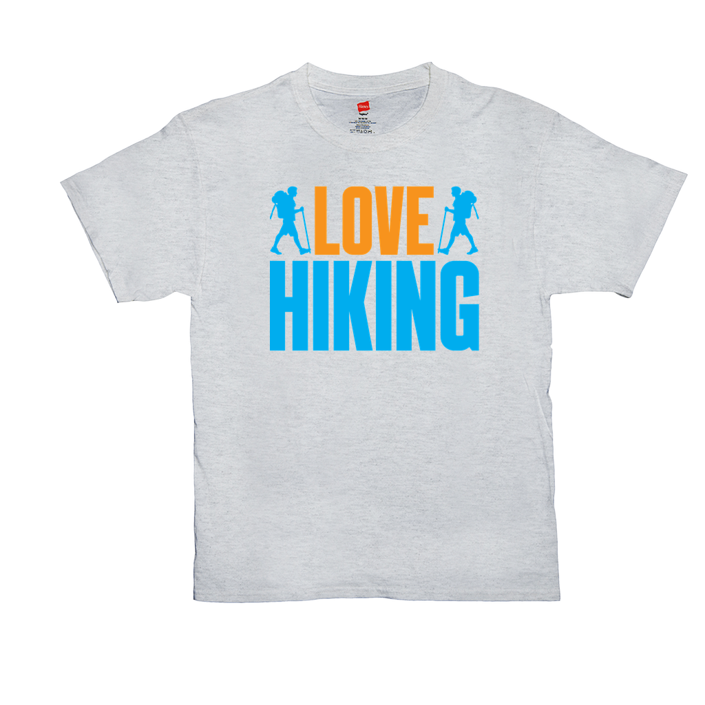 Love Hiking - Unisex T-Shirts - GN - camping, hiking, outdoors, nature