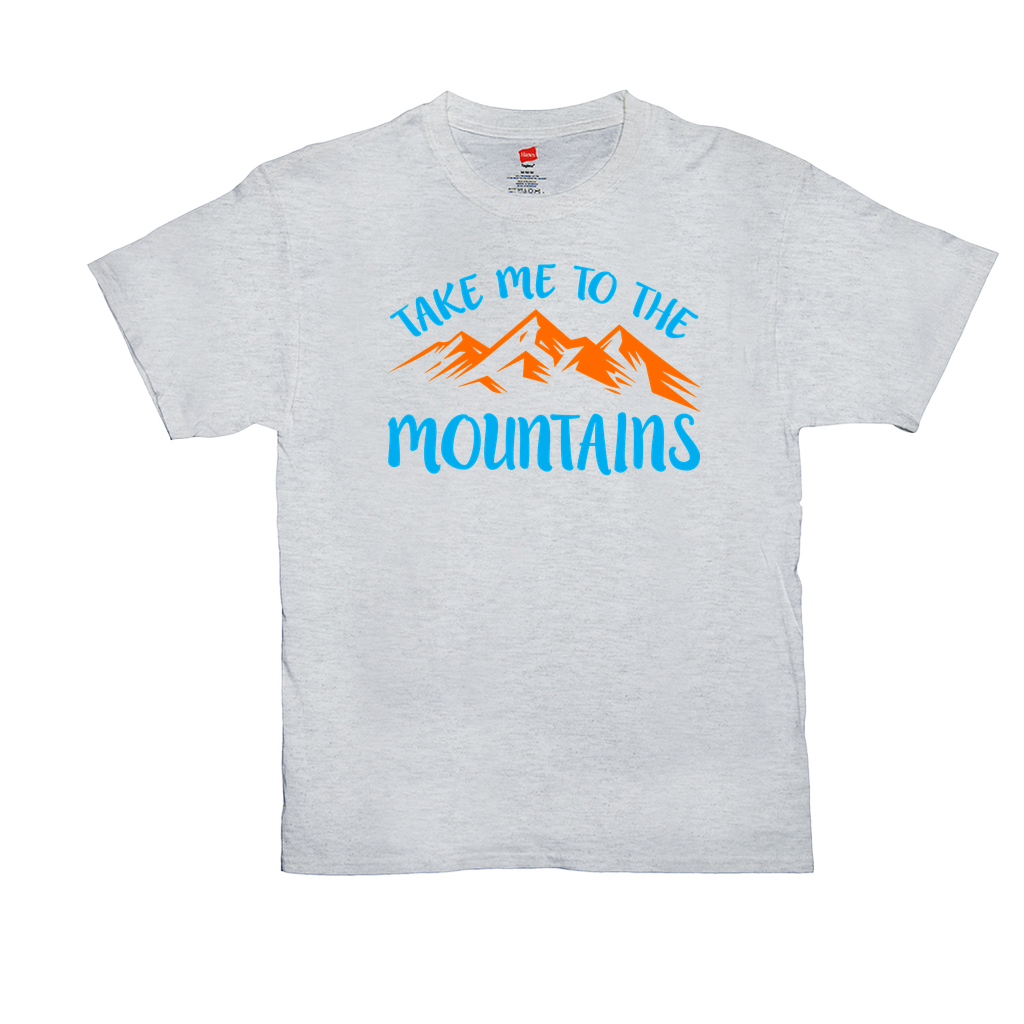 Take me to the mountains - Unisex T-Shirts - GN - camping, hiking, outdoors, nature