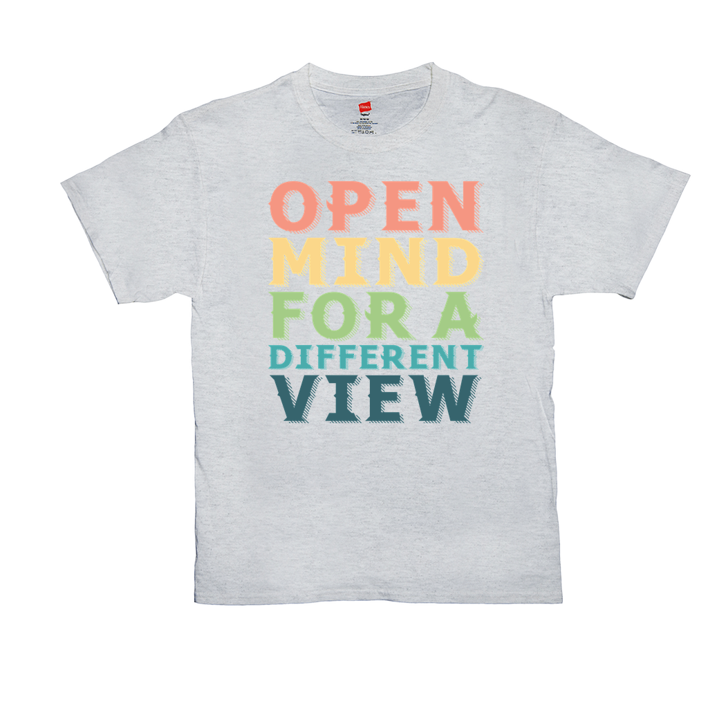 Open mind for a different view - Unisex T-Shirts - GN - equality, acceptance, LGBTQ, civil rights
