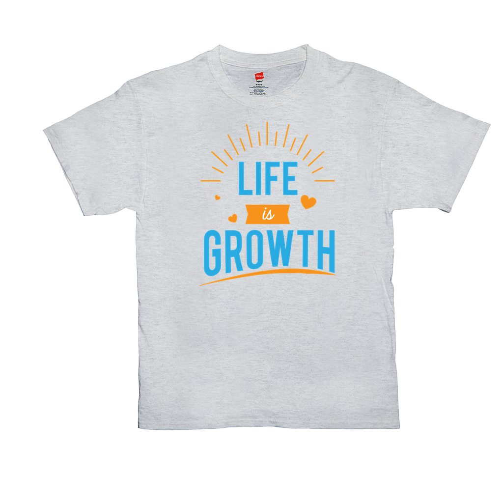 Life is Growth - Unisex T-Shirts - GN - motivational, self-help, success