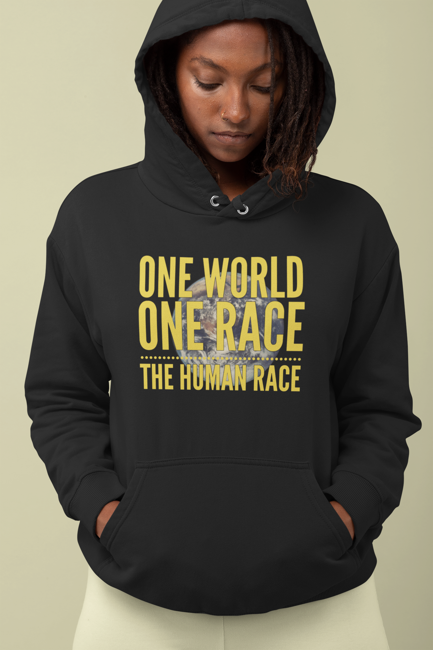 One World, One Race...The Human Race - Unisex Hoodie - GN