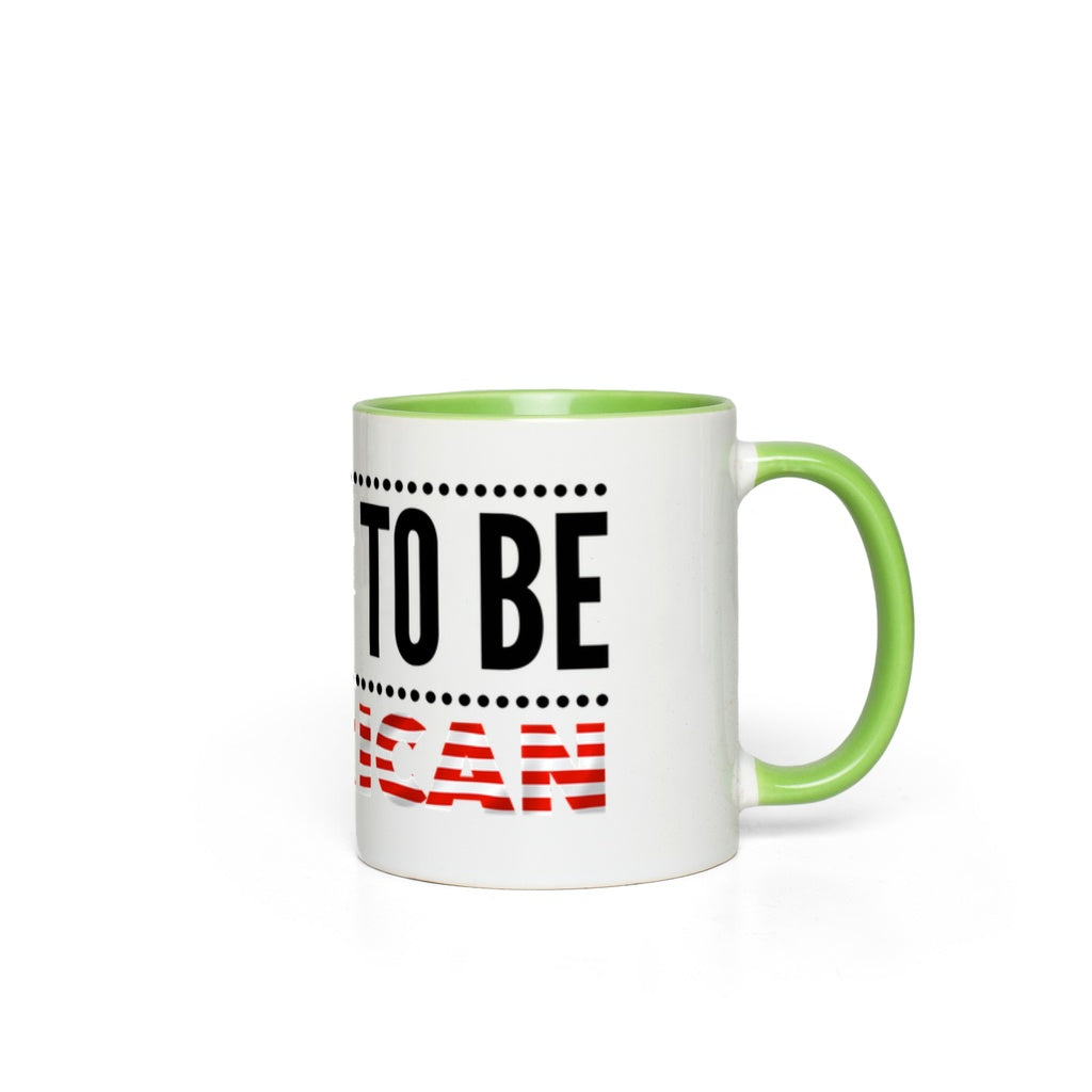 Proud to be American - Accent Mugs