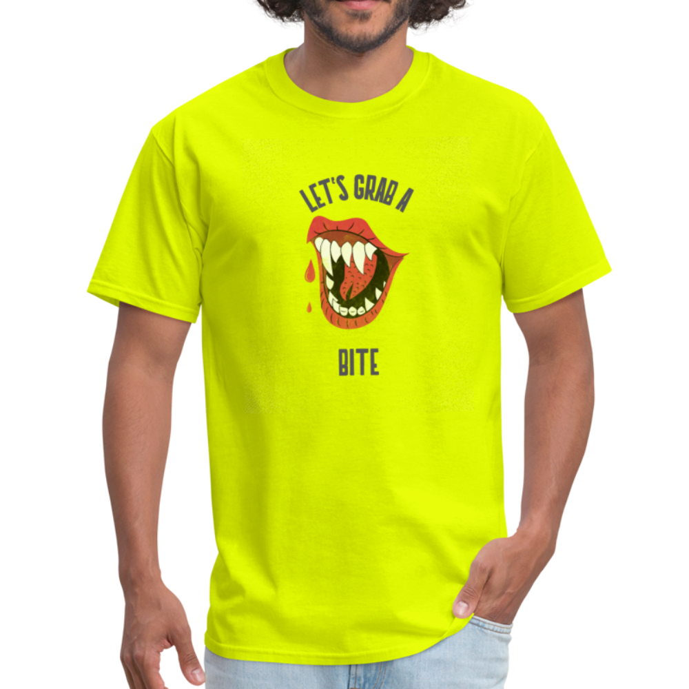 Let's Grab a Bite - Men's T-Shirt - safety green