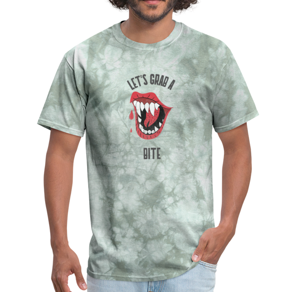 Let's Grab a Bite - Men's T-Shirt - military green tie dye