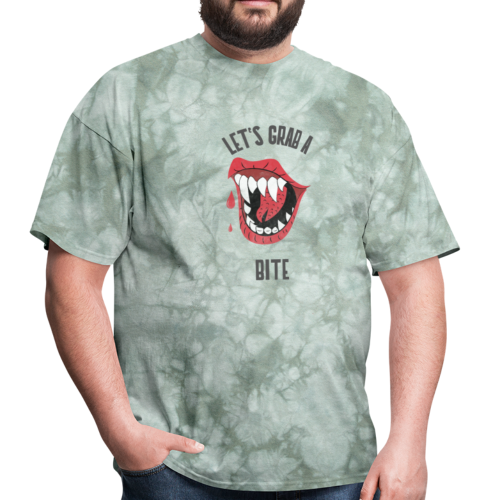 Let's Grab a Bite - SD - Unisex Classic T-Shirt - military green tie dye