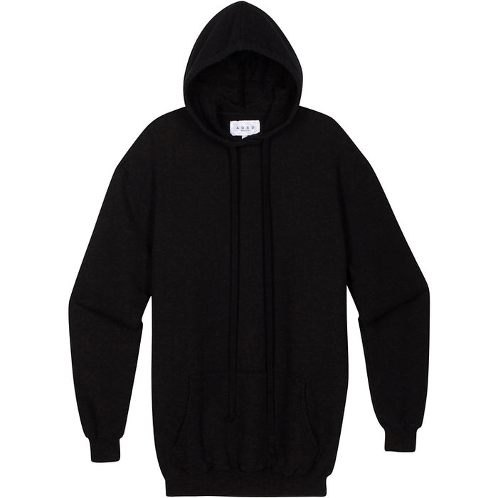 ADBD Standard L/S Loop Terry Hooded Pullover (Black)