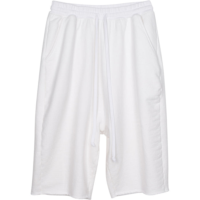 ADBD Extended Drop Crotch Loop Terry Shorts (White)