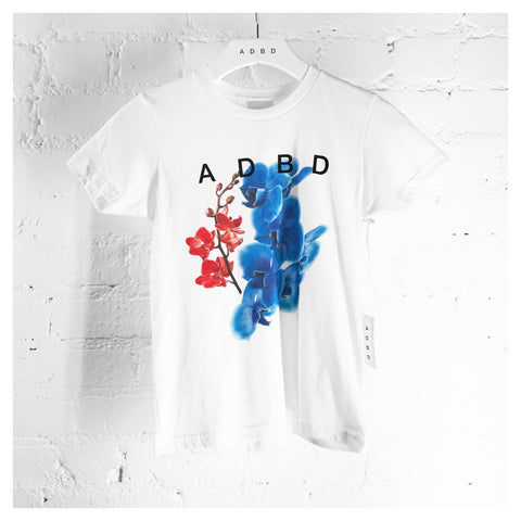"ADBD ""Orchids"" Crew Kids (White)"