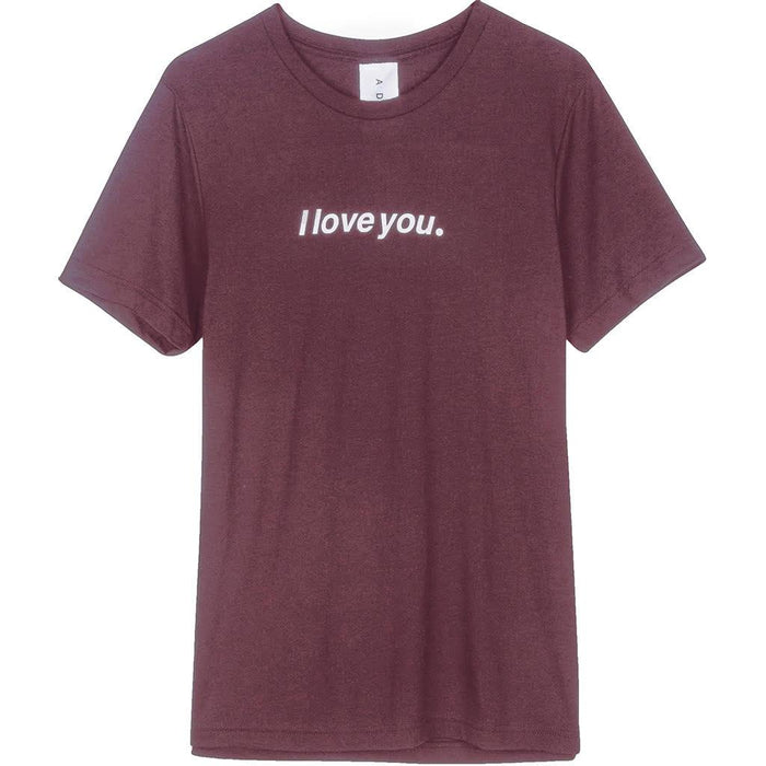 "ADBD ""I love you."" Tee (Fuchsia)"