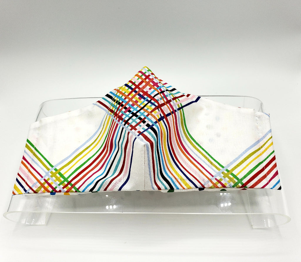 Light Criss-Cross Rainbow Face Mask