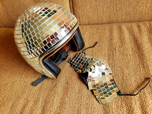 Disco Helmet + Disco Face Mask