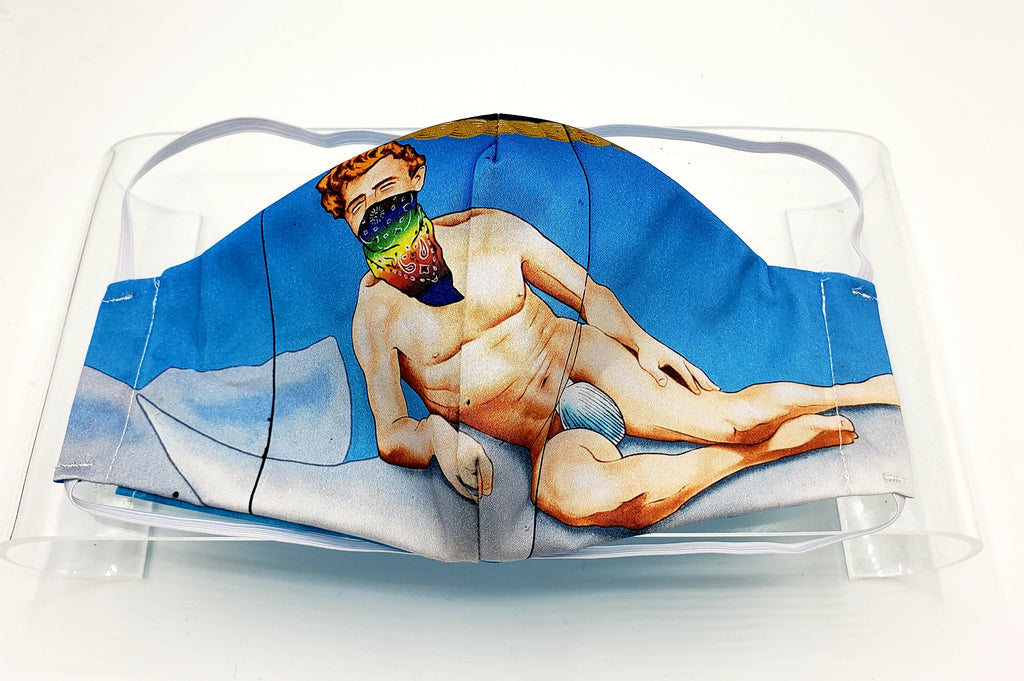 Moby Dick Mural Face Mask by Nicole Hayden