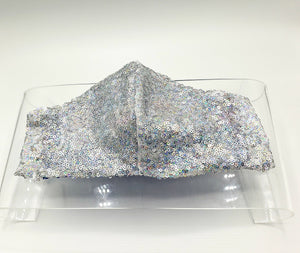 Light Hologram Sequin Face Mask