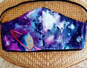 Galaxy Planets Face Mask