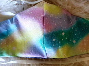 Rainbow Galaxy Face Mask