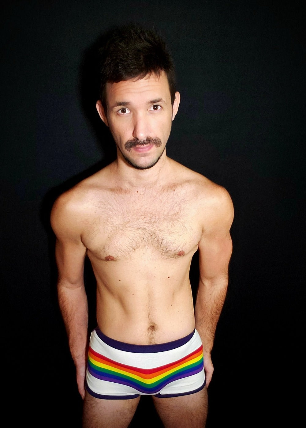 White rainbow undies