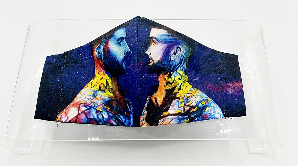 Star-Crossed Lovers Face Mask by Brandon McGill