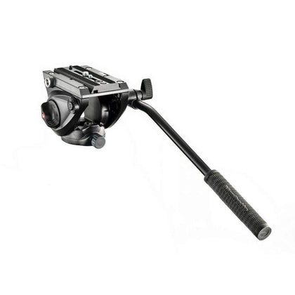 Cabezal de video fluido 500 con base plana manfrotto