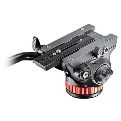 Cabezal de video fluido 502 con base plana detalle manfrotto