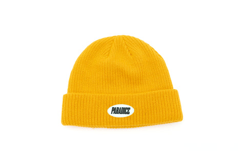 Knit Beanie (Yellow Gold)