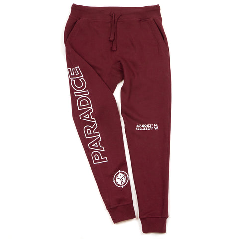 Here But Somewhere Else Sweatpants (Burgundy)