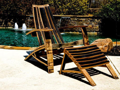 Whiskey Adirondack Chair w/ Ottoman