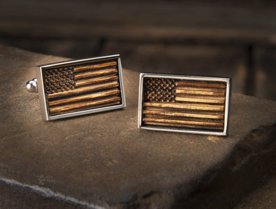Old Glory - Whiskey Cufflinks