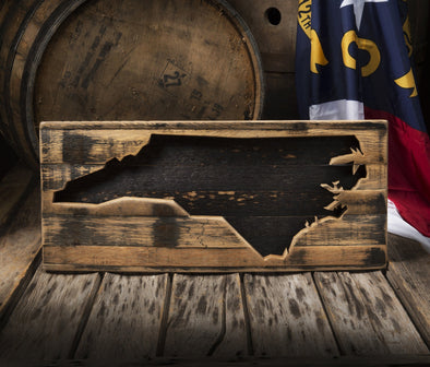 Whiskey States Wall Decor (All 50 States Available)