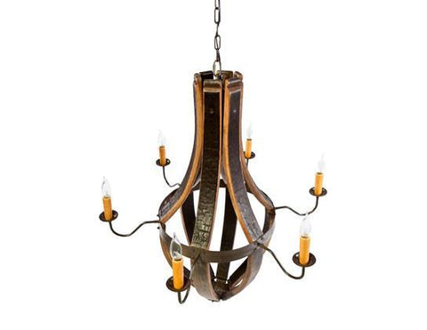 Whiskey Wood Chandelier (4 Candle)