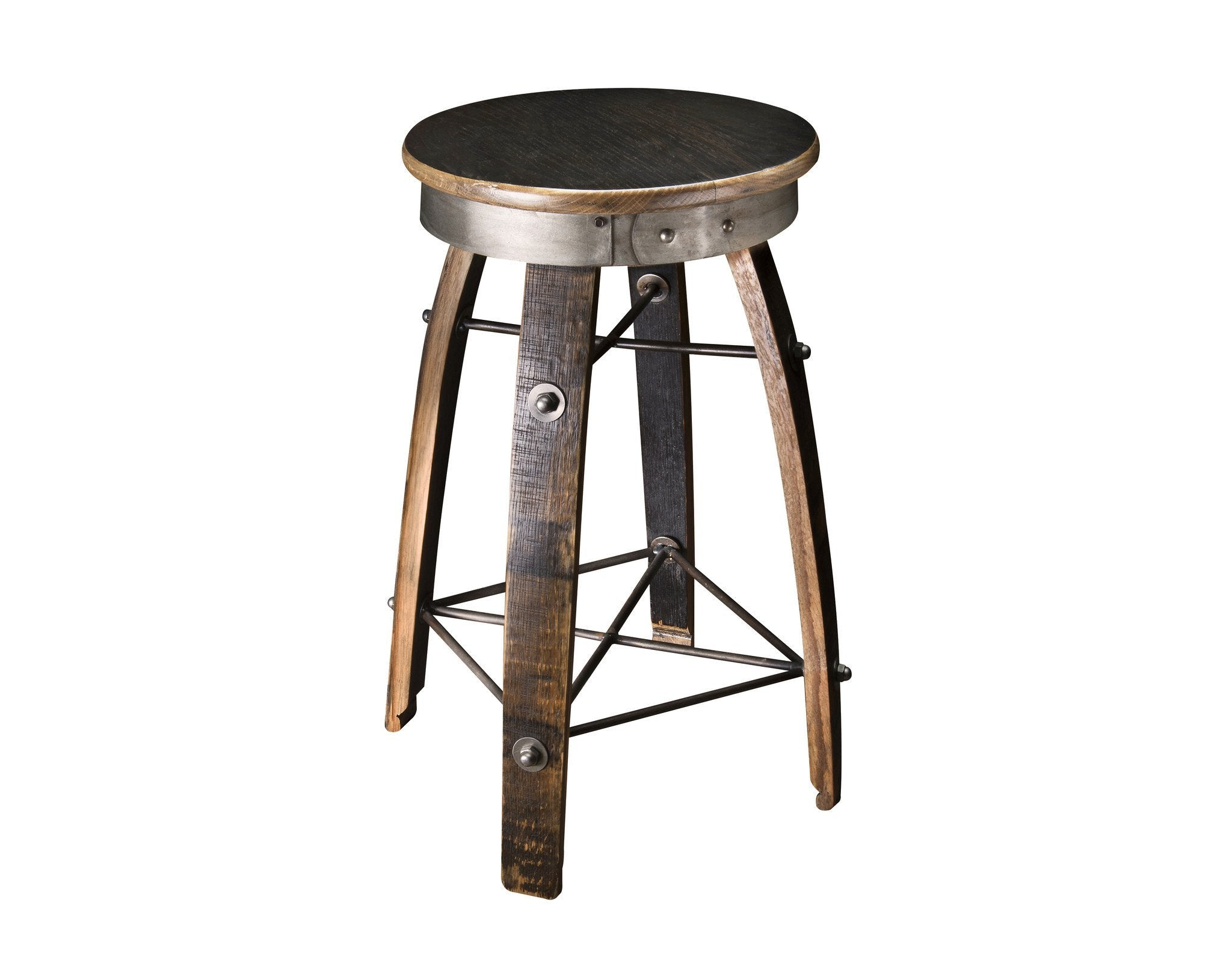 Whiskey Wood Bar Stool Swivel Seat