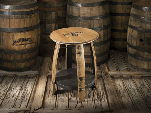 Whiskey Wood Side Table