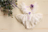 White and Lavender Floral Butterfly 6-12m