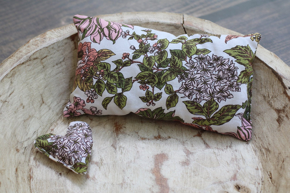 Floral Posing Pillow with Matching Floral Pillow Heart