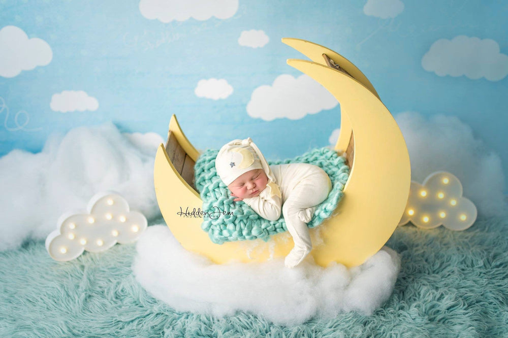 Star and Moon Romper & Hat Set