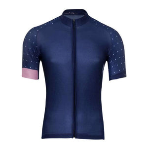 BLUE POLKA DOT CYCLING MEN'S JERSEY