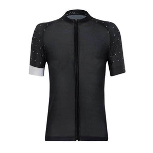 BLACK POLKA DOT CYCLING WOMEN'S JERSEY
