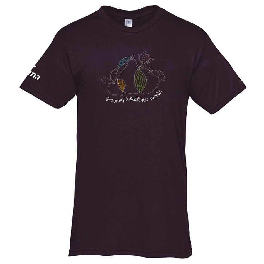 Growing A Healthier World Tee - Deep Plum