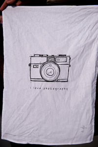 The 'I Love Photography' - Tea Towel