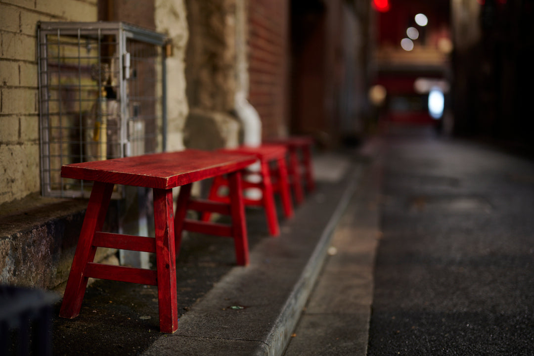 Quiet Moments 3 - Red Stools
